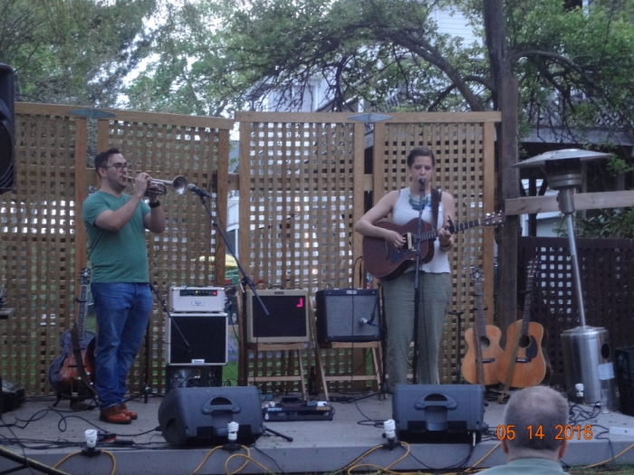 Sean Peters and Erica Leigh at The Backyard