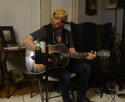Davey O. house concert in Newton