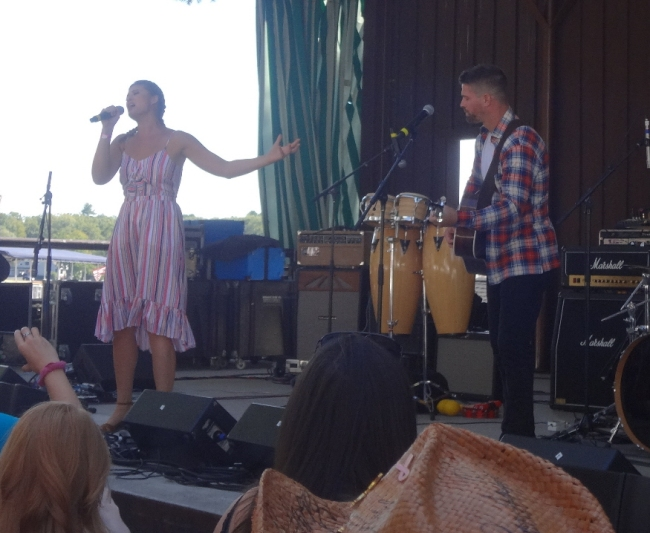 Ayla Brown and Rob Bellamy at Local CountryFest